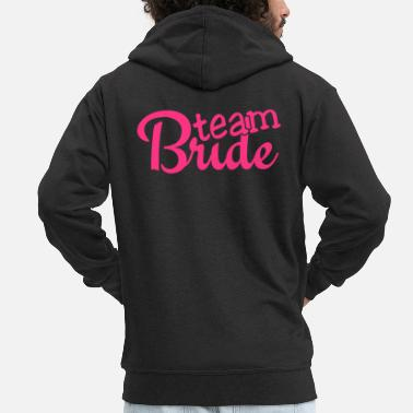 Brud team bride 1c - Men's Premium Zip Hoodie