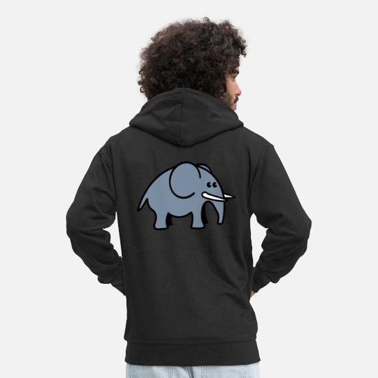 Big Hoodies & Sweatshirts - elephant - Men's Premium Zip Hoodie black