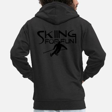 Ski Resort ski resort skies ski area skiing - Men's Premium Zip Hoodie