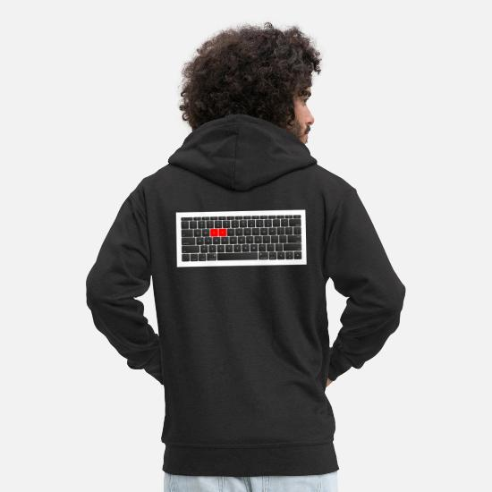 Play Hoodies & Sweatshirts - computer - Men's Premium Zip Hoodie black