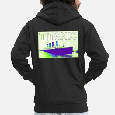 Poster TITANIC abstract poster - Men's Premium Zip Hoodie