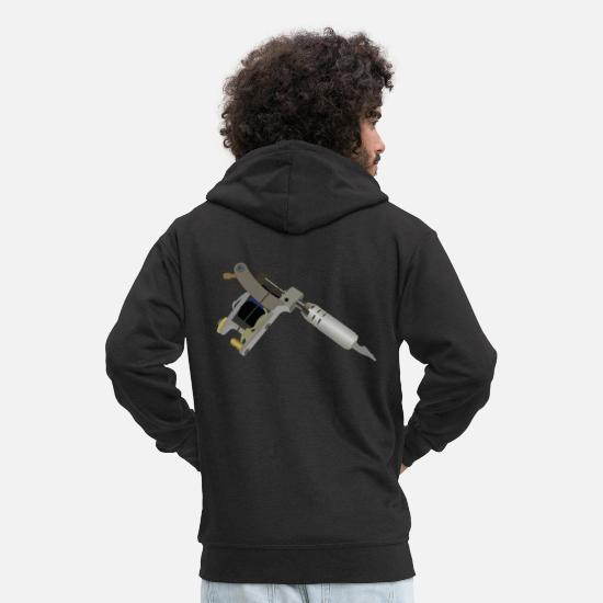 Tattoo Hoodies & Sweatshirts - Tattoo Machine - Men's Premium Zip Hoodie black