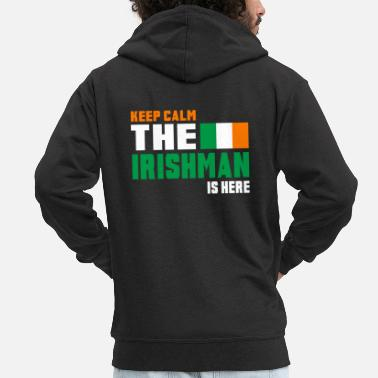 National Keep Calm Ireland / Gift National Colours - Veste à capuche Premium Homme