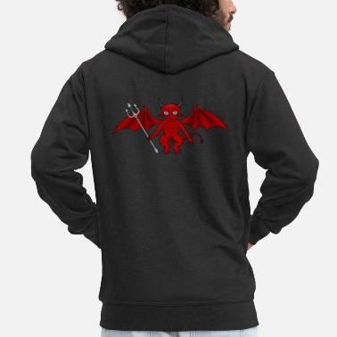 Devil Male Devil / Devil - Men's Premium Zip Hoodie