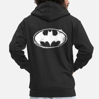 Officialbrands Batman Logo White Chalk Teenager Langarmshirt - Männer Premium Kapuzenjacke