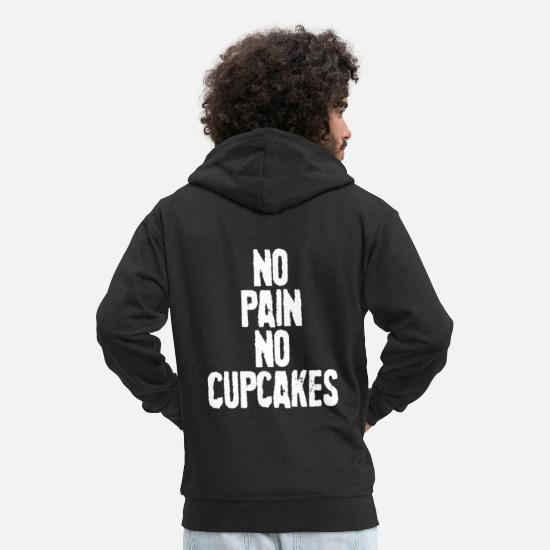 Birthday Hoodies & Sweatshirts - Cupcake muffin baked goods pastry baking gift - Men's Premium Zip Hoodie black
