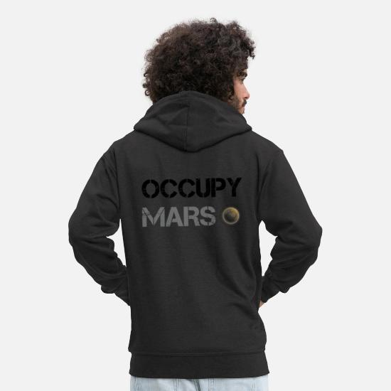 Mars Hoodies & Sweatshirts - Occupy Mars Shirt - Men's Premium Zip Hoodie black