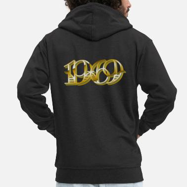 Year Of Birth 1969 year of birth - Men's Premium Zip Hoodie