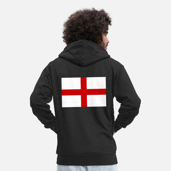 English Hoodies & Sweatshirts - England - Men's Premium Zip Hoodie black