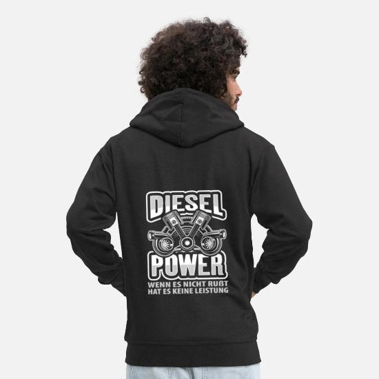 Diesel Hoodies & Sweatshirts - DIESEL POWER - Men's Premium Zip Hoodie black