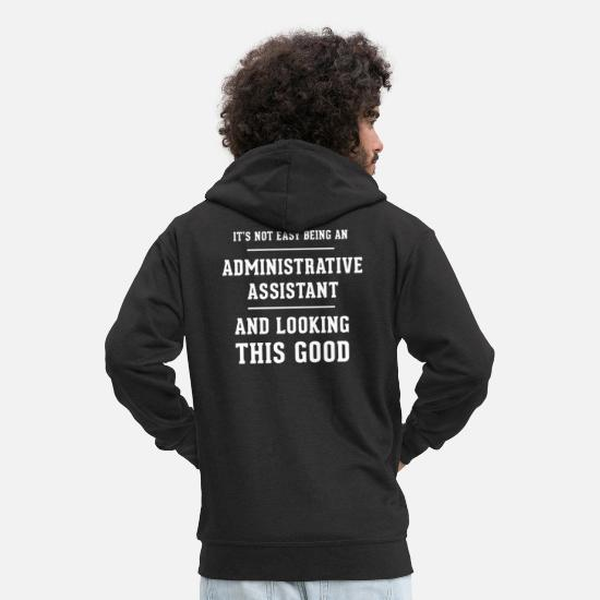 Birthday Hoodies & Sweatshirts - Original gift for an Administrative Assistant - Men's Premium Zip Hoodie black