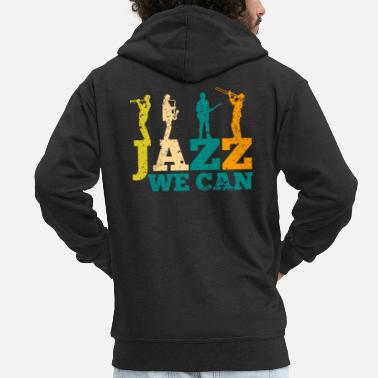 Jazz Music Jazz Bass - Men's Premium Hooded Jacket