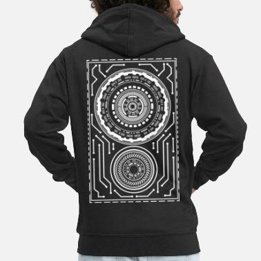 Cyberpunk Cyberpunk mandalas - Men's Premium Hooded Jacket