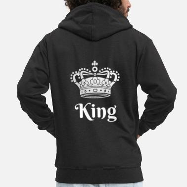 King King Queen Partnerlook - Männer Premium Kapuzenjacke