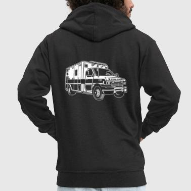 Ambulance Ambulance / ambulance 01_white - Men's Premium Hooded Jacket
