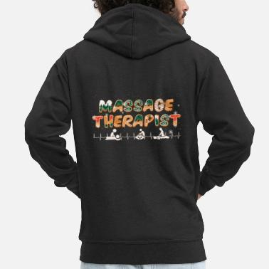 Toxic Massage Therapist Funny Christmas Gift - Men's Premium Zip Hoodie