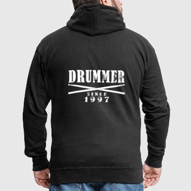 Drummer since 1997 - Men's Premium Hooded Jacket
