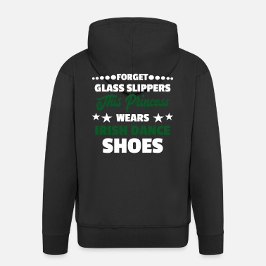 Irish Dancing Glass Slippers Princess Irish Dance Shoes Gift - Men's Premium Zip Hoodie