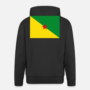 Gf Flag of French Guiana (gf) - Men's Premium Hooded Jacket