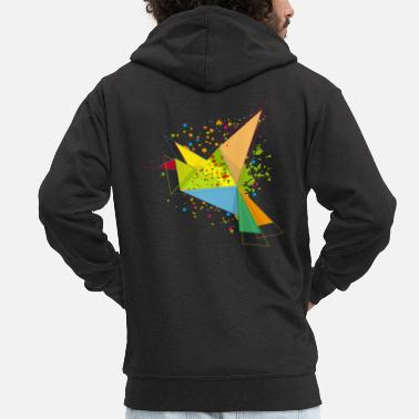 Graffiti A colorful origami bird - Men's Premium Zip Hoodie