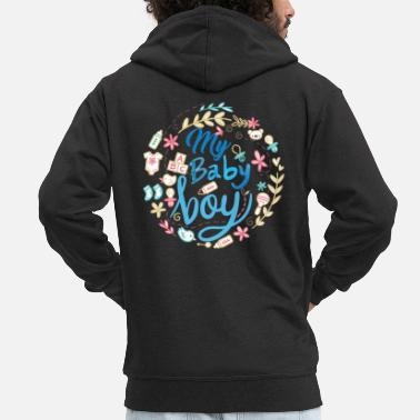Birth pregnant baby child born birth gift idea - Men's Premium Zip Hoodie