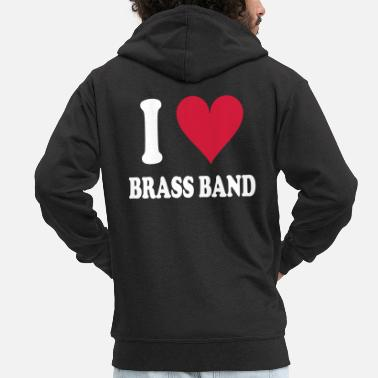 Brass Band I love Brass Band - Men's Premium Hooded Jacket