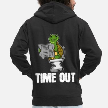Toilette Tortue, animal, temps mort, journal, toilette, cadeau, loo - Veste à capuche Premium Homme
