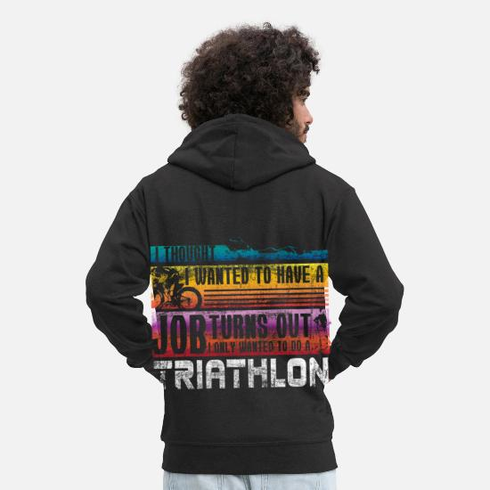 Running Hoodies & Sweatshirts - Triathlon gift idea - Men's Premium Zip Hoodie black