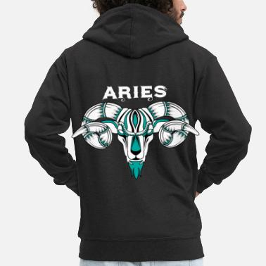 Sign Zodiac Signs - Aries - Men's Premium Zip Hoodie
