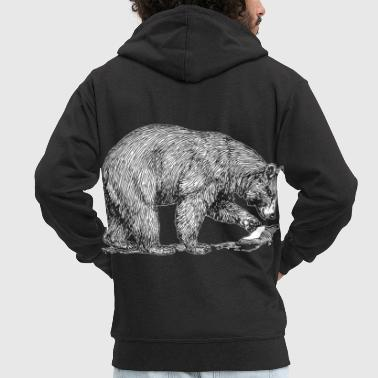 Ours Animal Grizzly Wilderness Don - Veste à capuche Premium Homme