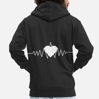 Romantic Romantic Heartbeat, Romantic Heartbeat, Love - Men's Premium Zip Hoodie