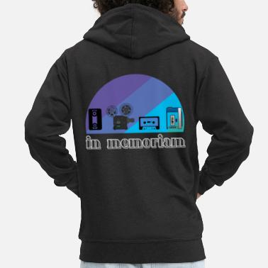 Walkman Retro - Men's Premium Zip Hoodie