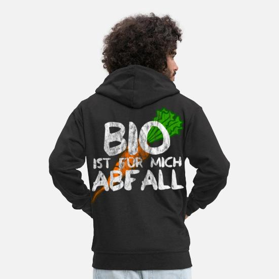 Waste Hoodies & Sweatshirts - BIO is waste for me - Men's Premium Zip Hoodie black