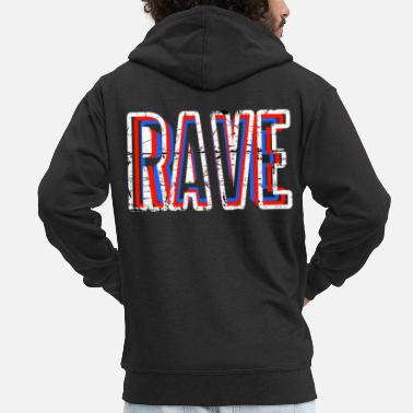 Detroit RAVE | Techno Party Music DJ Goa Regalo - Chaqueta con capucha premium hombre