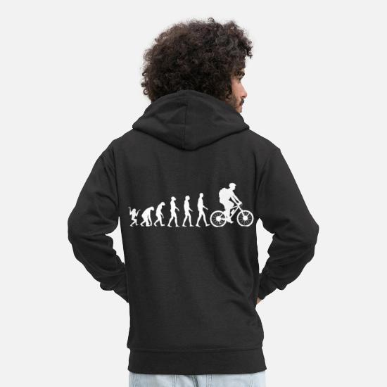 Gift Idea Hoodies & Sweatshirts - Bicycle evolution - Men's Premium Zip Hoodie black