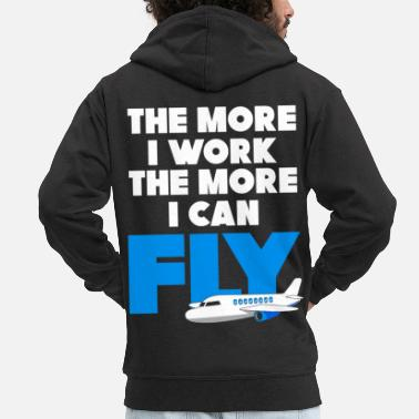 Extreme Sports Plane work trip - Men's Premium Zip Hoodie