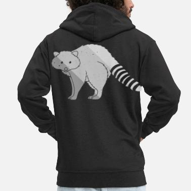 Girl Raccoon Sweet petty bear animal love - Men's Premium Zip Hoodie