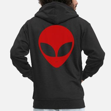 Spacemonster Alien Ufo Peace Spacemonster Discovery Spaceship - Men's Premium Zip Hoodie