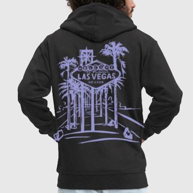 Las Vegas Las Vegas Strip Famous Sign Vintage Souvenir - Men's Premium Hooded Jacket