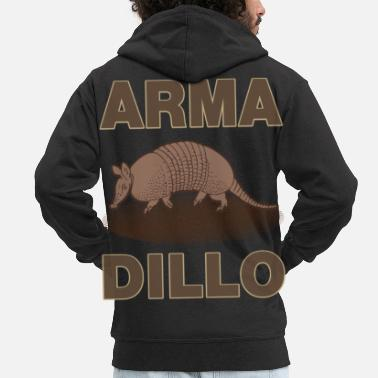 Armadillo Pangolin Wild Animal South America Asia - Men's Premium Zip Hoodie