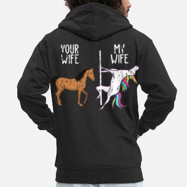 Marry Unicorn horse woman gift - Men's Premium Zip Hoodie