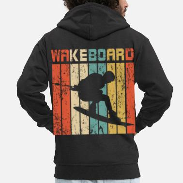 Perfect Wakeboard retro gift - Men's Premium Zip Hoodie