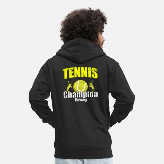 Tennis Player Hoodies & Sweatshirts - Tennis tennis player tennis game tennis shirt - Men's Premium Zip Hoodie black