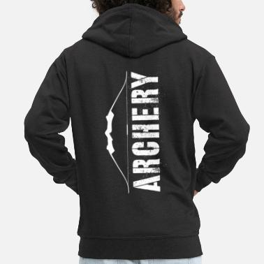 Bowhunter Archery bow arrow saying quiver - Men's Premium Zip Hoodie