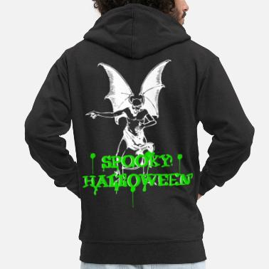 Move Devil with spooky nasty Halloween lettering - Men's Premium Zip Hoodie