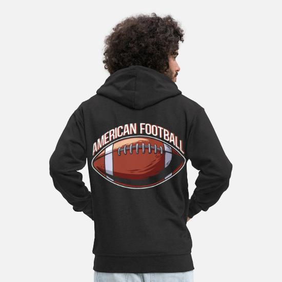 Football Sweat-shirts - Football américain USA Funny Gift Sport - Veste à capuche premium Homme noir
