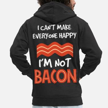 Conquer I'm not bacon - grilling - BBQ - Men's Premium Zip Hoodie