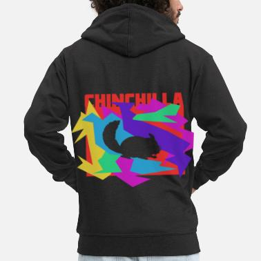 Play Chinchilla colored mosaic puzzle - Men's Premium Zip Hoodie