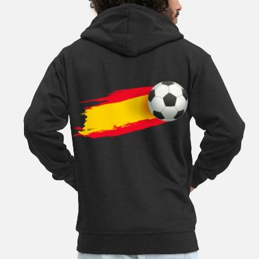 Bicycle Kick Football soccer player spain fan spain gift - Men's Premium Zip Hoodie