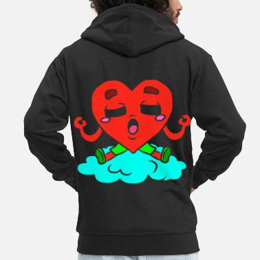 Picture Herzblatt Herzchen Honey darling sweetheart Herz Lieb - Men's Premium Zip Hoodie